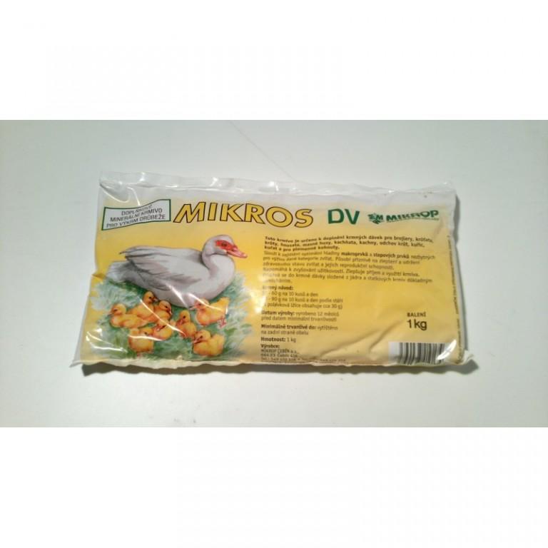 Mikros DV 1 kg - minerály pro drůbež do chovu