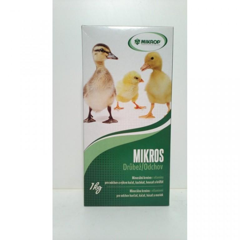 Mikros VDV 1 kg - vitamíny a minerály pro drůbež na výkrm