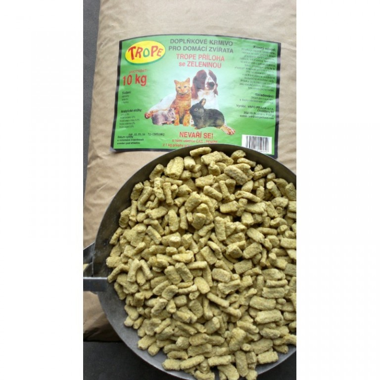 Trope - doplňkové krmivo zelenina