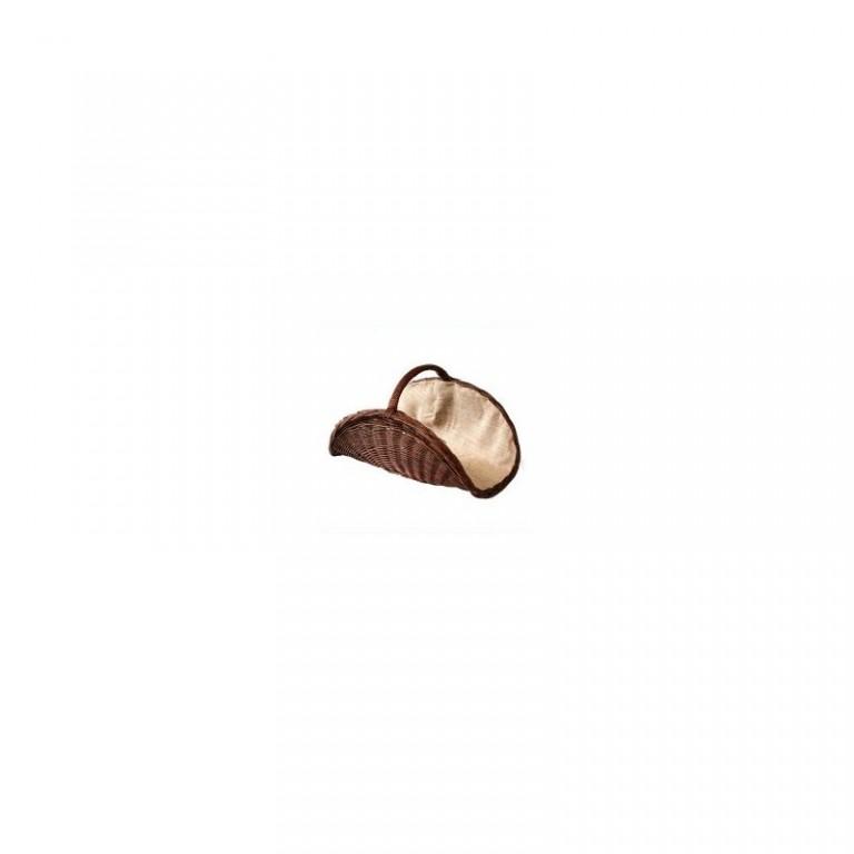 Koš na dřevo s jutou hnědý