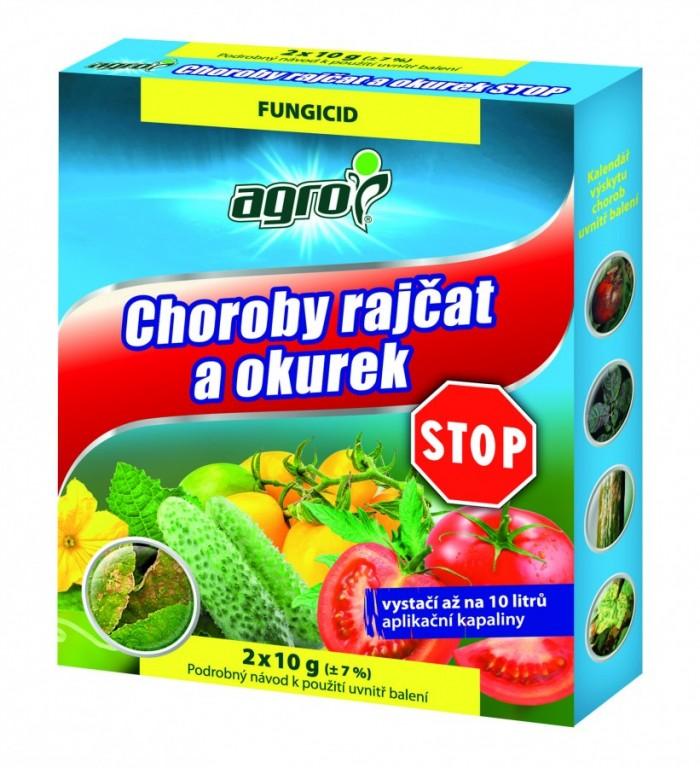 Agro Chorody rajčat a okurek STOP 2x10 g