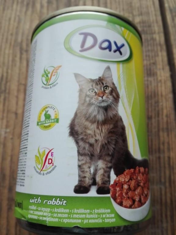 Dax kozerva pro kočky s králíkem 400g