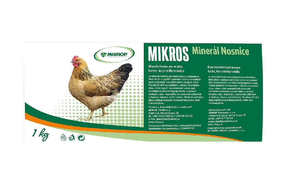 Mikros minerál nosnice - DN 1 kg - minerály pro nosnice